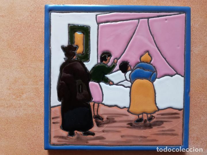 Antigüedades: Azulejos serie el Quijote En un lugar de la Mancha- Mensaque Rogriguez- Triana Sevilla - Foto 5 - 221455311
