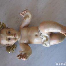 Oggetti Antichi: IMAGEN NIÑO JESÚS OJOS DE CRISTAL. Lote 221471848