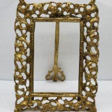 Antigüedades: MARCO ANTIGUO DE ESTILO ROCOCÓ EN BRONCE MACIZO BELLAMENTE LABRADO .. Lote 221477435