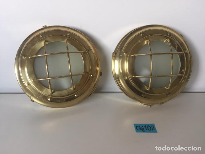 LOTE DE APLIQUES TIPO DE BARCO (Antigüedades - Iluminación - Apliques Antiguos)