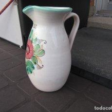 Antigüedades: ANTIGUA JARRA DE CERAMICA PARA VINO - FIRMADA CERAMISTA CRUZ P. ARZOBISPO - 19 CM. Lote 221496995