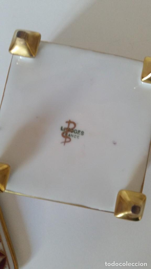 Antigüedades: LINDO JOYELLO PORCELANA LIMOGES MAD FRANCE HECHO Y PINTADO A MANO - Foto 3 - 221510445