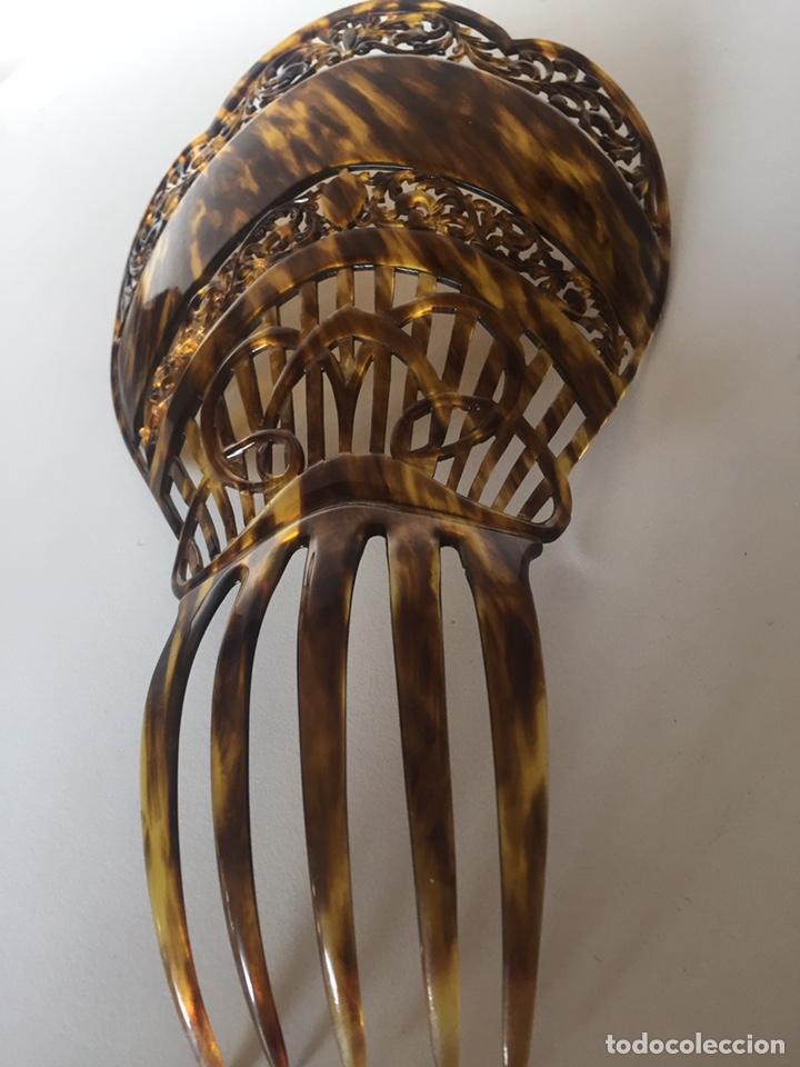 Antigüedades: Antigua peineta principio de siglo - Foto 3 - 221513451