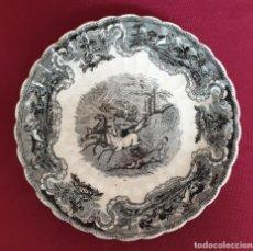 Antigüedades: EXCEPCIONAL PLATO HONDO LOBULADO DE LA FABRICA LA AMISTAD,CARTAGENA,(MURCIA),S.XIX. Lote 221514696