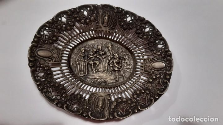 BANDEJITA DE PLATA (Antigüedades - Platería - Plata de Ley Antigua)