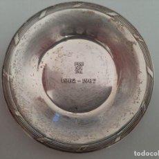 Antigüedades: PLATILLO DE PLATA A LOS TRABAJADORES DE PRENATAL. Lote 221532527