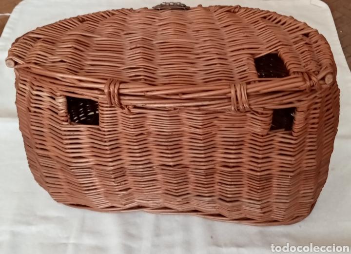 Antigüedades: Antigua nasa o cesta de pescar en mimbre - Foto 3 - 221540986