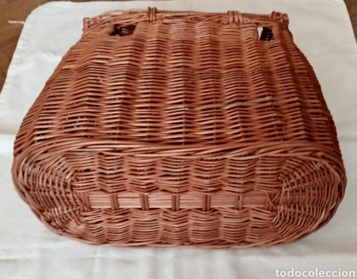 Antigüedades: Antigua nasa o cesta de pescar en mimbre - Foto 4 - 221540986