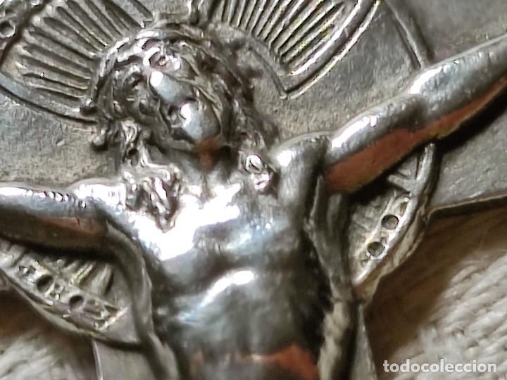 Antigüedades: CRUZ PECTORAL. PLATA. INICIALES JM AL DORSO. ESPAÑA. PRINC. S. XX - Foto 4 - 221541388