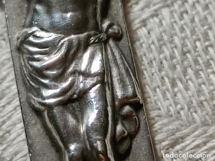 Antigüedades: CRUZ PECTORAL. PLATA. INICIALES JM AL DORSO. ESPAÑA. PRINC. S. XX - Foto 5 - 221541388