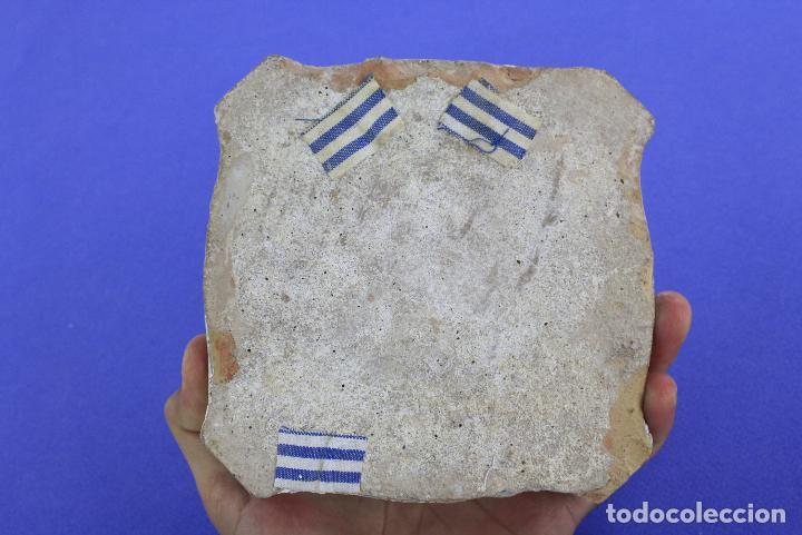 Antigüedades: Azulejo con numeración para edificio, número 5, siglo XIX. - Foto 3 - 221555910