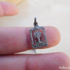 Antigüedades: MEDALLA ANTIGUA DE PLATA DE LA VIRGEN DEL PILAR. Lote 221557020