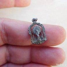 Antigüedades: MEDALLA ANTIGUA DE PLATA DE LA VIRGEN DEL PILAR. Lote 221557141