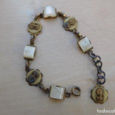 Antigüedades: PULSERA ANTIGUA DE LA VIRGEN DEL PILAR. Lote 221558172