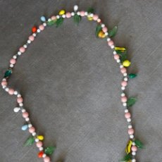 Antigüedades: COLLAR FRUTAS, CRISTAL MURANO. Lote 221559607