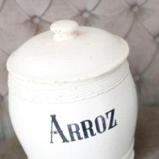 Antigüedades: BOTE ARROZ MANISES, PORCELANA. Lote 221559926