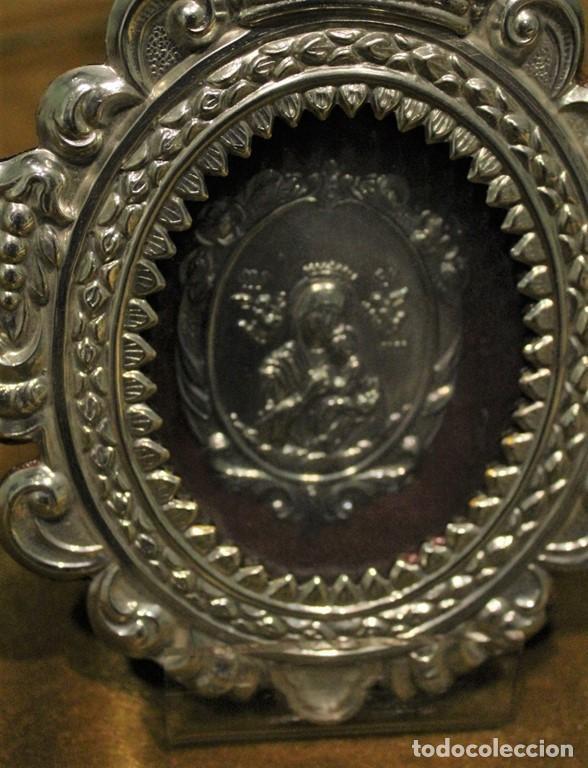 Antigüedades: Virgen con el Niño, 16 x 12 cm - Foto 2 - 221567462