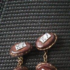 Antigüedades: GEMELOS FICHAS DE DOMINÓ. Lote 221569196