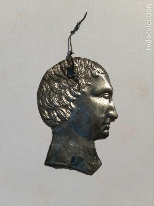 EXVOTO PLATA XIX. IGLESIA, SANTO, VIRGEN, CAP I POTA. (Antigüedades - Religiosas - Relicarios y Custodias)