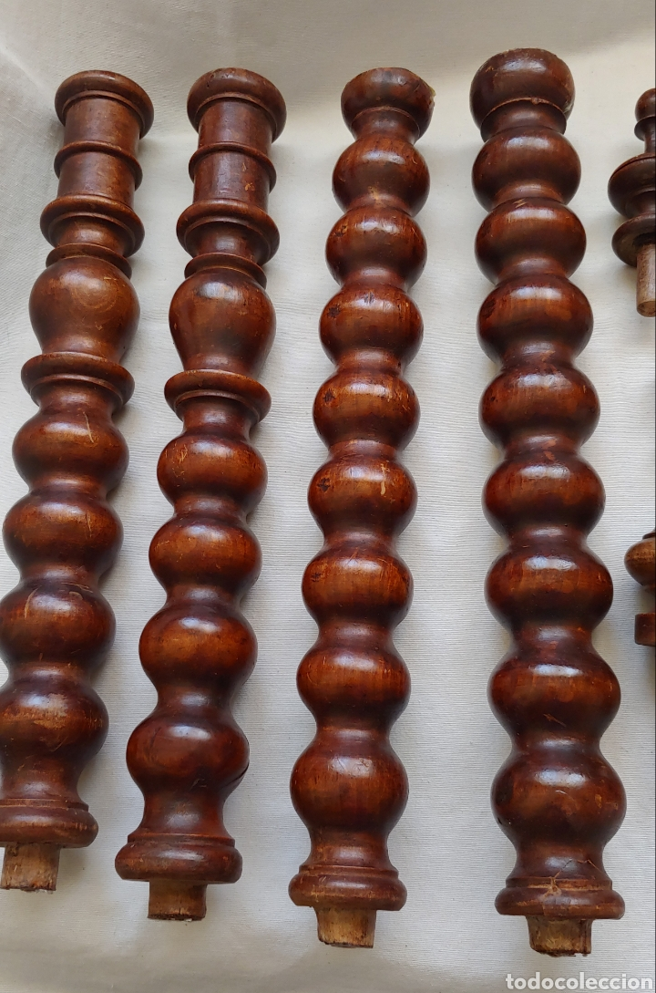 Antigüedades: Muy antiguas patas de madera torneadas y terminaciones - Foto 2 - 221570871