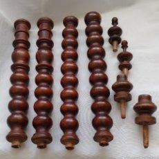 Antigüedades: MUY ANTIGUAS PATAS DE MADERA TORNEADAS Y TERMINACIONES. Lote 221570871