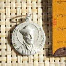 Antigüedades: MEDALLA RELIGIOSA ANTIGUA DE S. FRANCISCO DE BORJA.. Lote 221574383