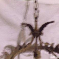 Antigüedades: BONITA LAMPARA TIPO HOJA DE SOL DE BRONCE PARA RESTAURAR. Lote 221574907