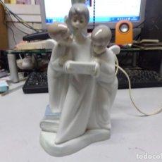 Antigüedades: LAMPARA PORCELANA DE LLADRO ANGELES. Lote 221579666