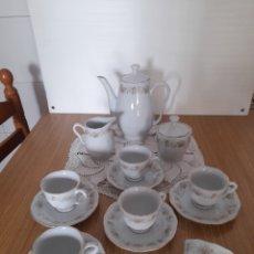 Antigüedades: JUEGO DE CAFE DE PORCELANA GUOGUANG FINE CHINA. Lote 221590655