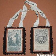 Antigüedades: ESCAPULARIO DE LA VENERABLE ORDEN TERCERA FRANCISCANA SIGLO XIX. Lote 221608776