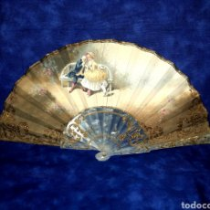 Antigüedades: BELLÍSIMO ABANICO PINTADO A MANO. Lote 221612100