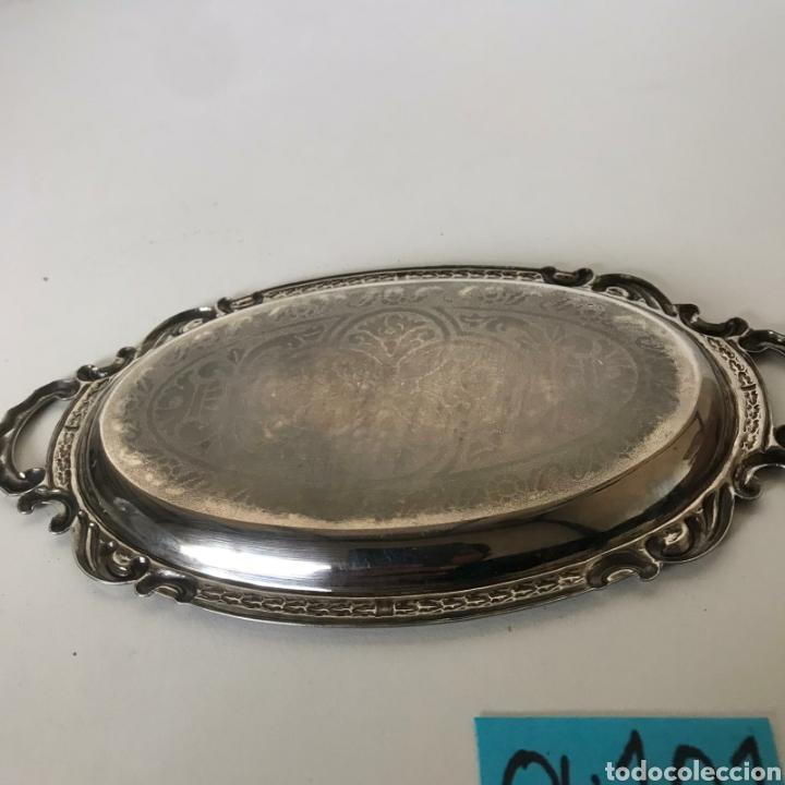 Antigüedades: Pequeña bandeja metálica - Foto 3 - 221617123