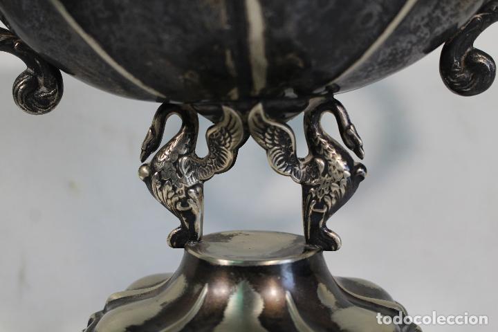 Antigüedades: copa trofeo de alpaca - Foto 5 - 221632283