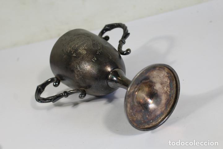 Antigüedades: copa trofeo ilustre ayuntamiento de albaida 1940 - Foto 3 - 221632341