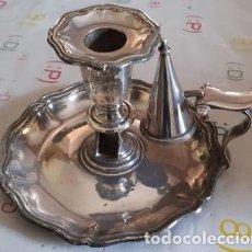 Antigüedades: ANTIGUA PALMATORIA DE ALPACA. Lote 221638230