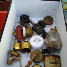 Antigüedades: APLIQUES ANTIGUOS ELECTRICOS SURTIDO DIVERSO Y VARIADO, LOS DE LA FOTO. Lote 221641677