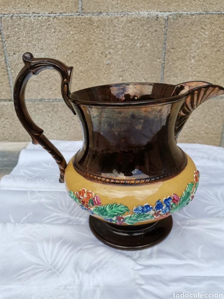 JARRA INGLESA XIX (Antigüedades - Porcelanas y Cerámicas - Inglesa, Bristol y Otros)
