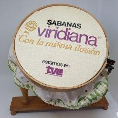 Antigüedades: ANTIGUO BASTIDOR BORDAR PUBLICIDAD SABANAS VIRIDIANA TVE TELEVISION ESPAÑOLA UNICO EN TODOCOLECCION. Lote 221654121