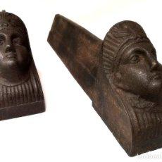 Antigüedades: ANTIGUOS MORILLOS DE CHIMENEA FRANCESES. Lote 221656971