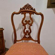 Antigüedades: SILLA DE MADERA. POSIBLEMENTE DE HAYA.. Lote 221669798