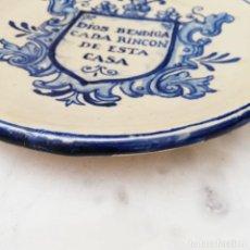 Antigüedades: PLATO DE CERAMICA MONTALVAN. Lote 221670568