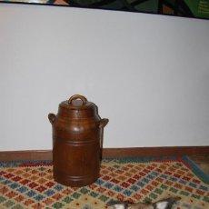 Antigüedades: PRECIOSA LECHERA DE MADERA - OLLA DE LECHE - TONELERÍA - PIEZA MUY RARA. Lote 221678075