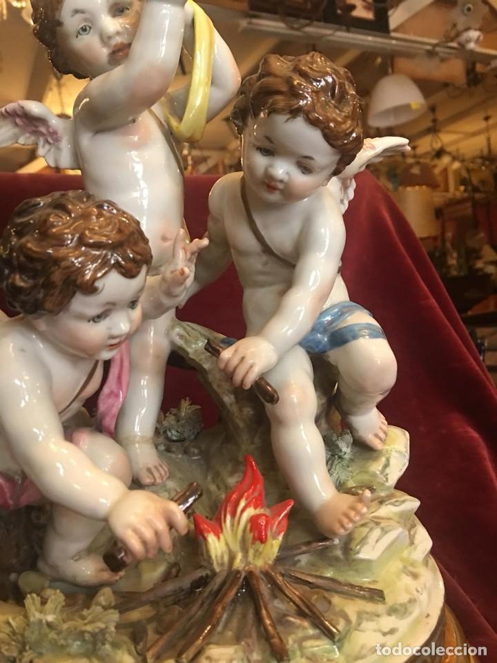 Antigüedades: Figura angelitos Algora - Foto 4 - 221689955