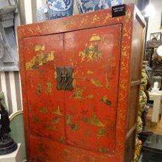 Antigüedades: ARMARIO-CABINET CHINO ANTIGUO. Lote 244974970