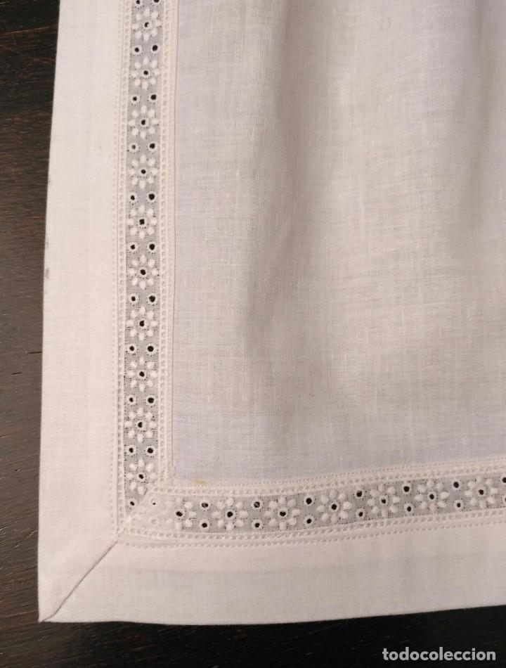 Antigüedades: VD 18 Delantal blanco traje regional i/o disfraz - Algodón con cuerpo - 35cm x 29cm - Foto 2 - 221698868