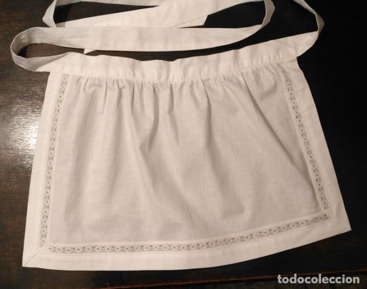 Antigüedades: VD 18 Delantal blanco traje regional i/o disfraz - Algodón con cuerpo - 35cm x 29cm - Foto 3 - 221698868