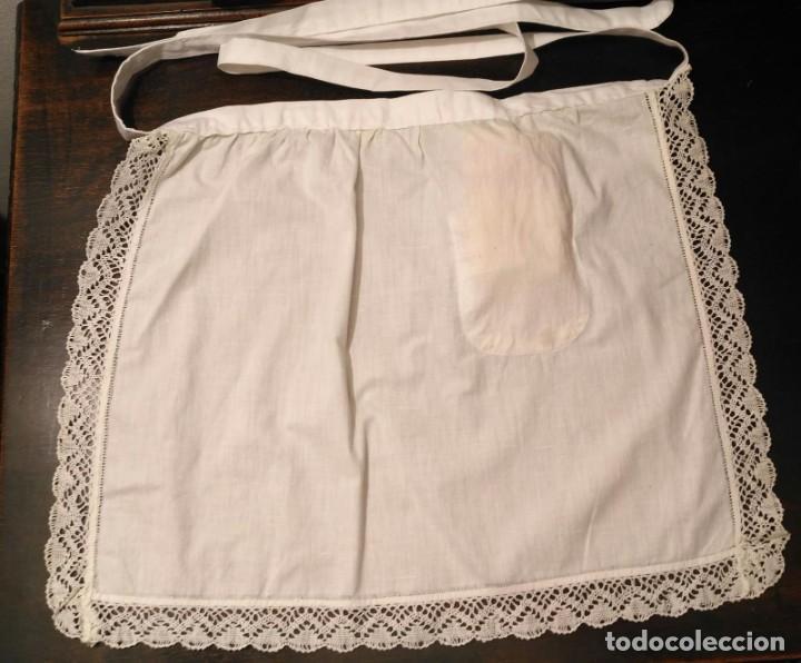 Antigüedades: VD 19 Delantal blanco traje regional i/o disfraz - Con trapo polvo - 45cm x 37cm - Foto 4 - 221700627