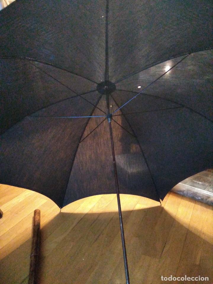 Antigüedades: Bastón paraguas antiguo doble uso - Foto 3 - 221700827