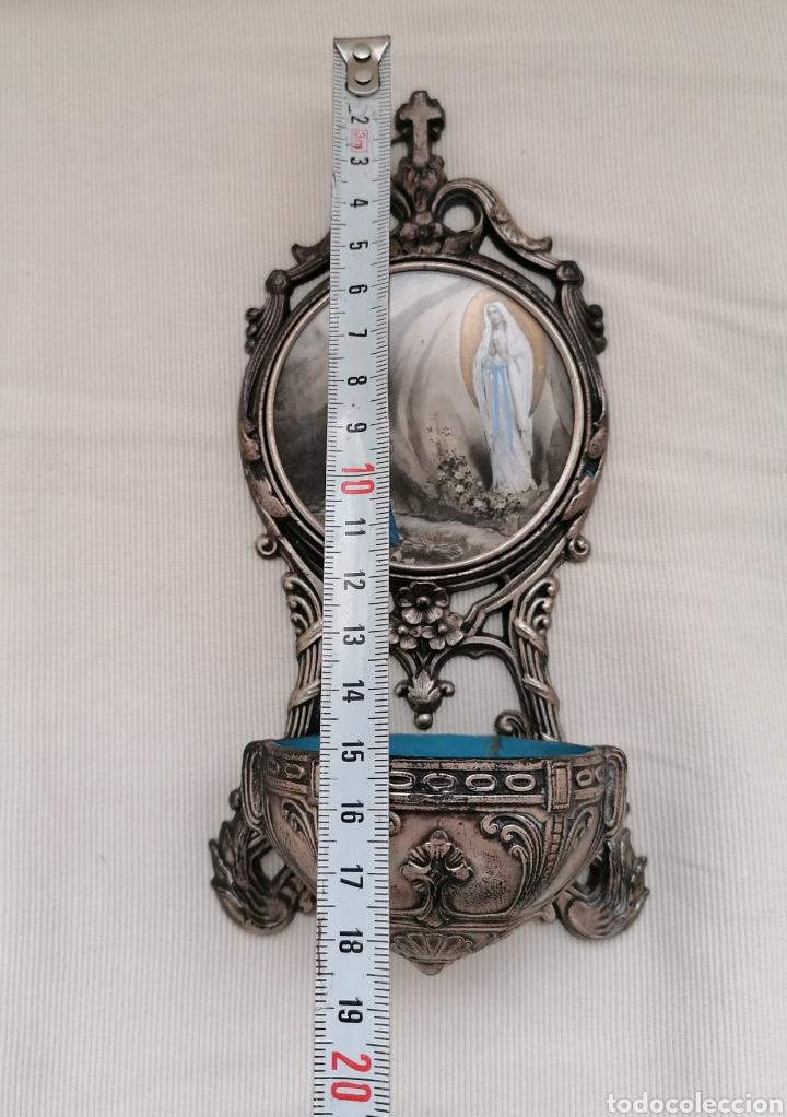 Antigüedades: Antigua benditera Virgen Lourdes. - Foto 9 - 221720751