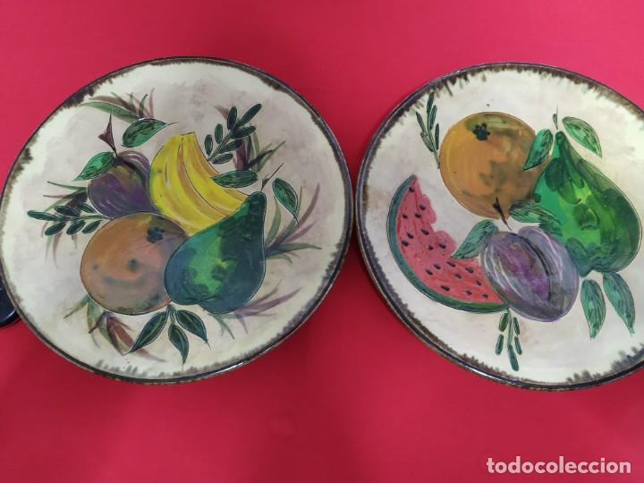 PAREJA PLATOS CERÁMICA (Antigüedades - Porcelanas y Cerámicas - La Bisbal)